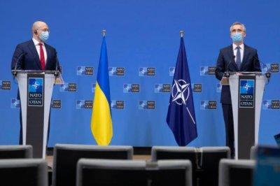 NATO chief, Ukraine prime minister emphasize efforts to counter Russia