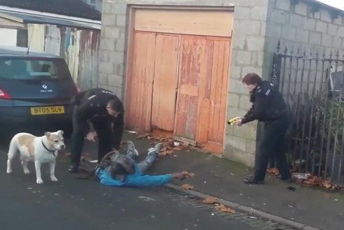 British police taser black race relations adviser mistaken for wanted man