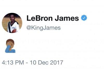 LeBron James' live tweet of the Cleveland Browns game was short-lived
