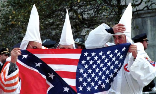 Illinois KKK group leader talking about rival Imperial Wizard: 'He ain't even white'