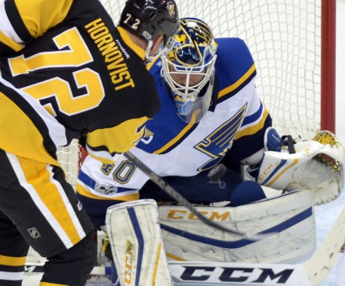 Carter Hutton, St. Louis Blues blank potent Pittsburgh Penguins