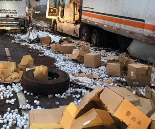 Crash covers Indiana highway in K-Cup coffee pods