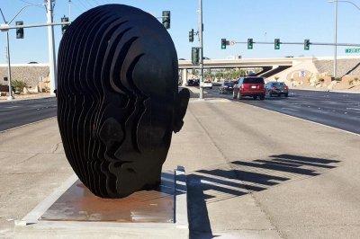 SUV-hits-4,000-pound-artwork-in-Las-Vegas