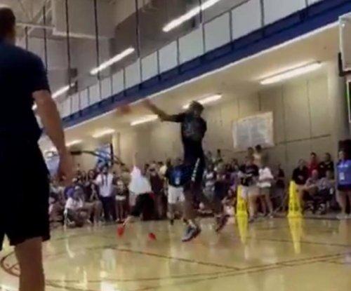 Thunder's Kevin Durant denies young camper's shot