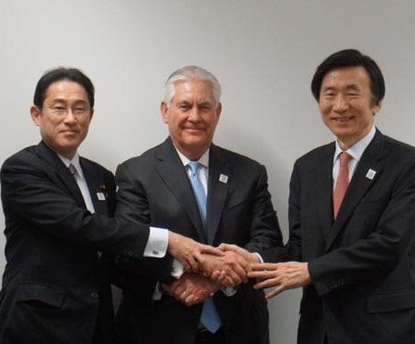 Rex Tillerson reaffirms defense pledge, condemns North Korea rights violations