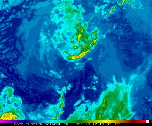 Otis degenerates to remnant low in Pacific