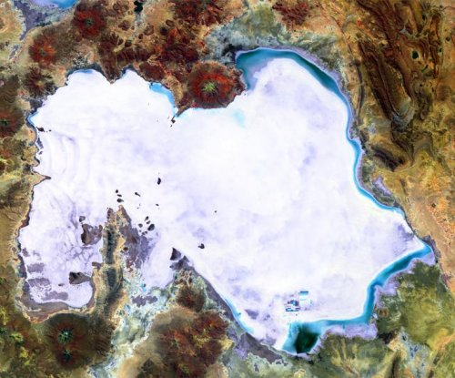 ESA probe spots world's largest salt plain