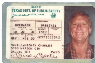 Pete Rose's bat, Mickey Mantle drivers license up for auction