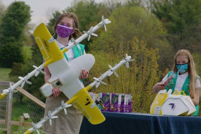 Virginia Girls Scouts making cookie deliveries via drone
