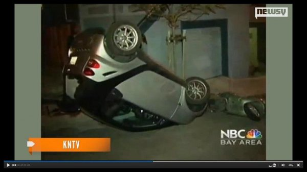 San Francisco Smart Cars Being Tipped Over By Vandals