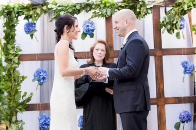 Boston marathon bombing survivor and his nurse wed