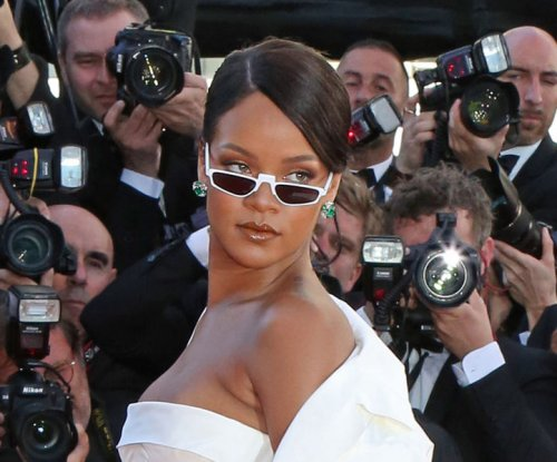 Rihanna rides motorbike at Fenty x Puma NYFW show
