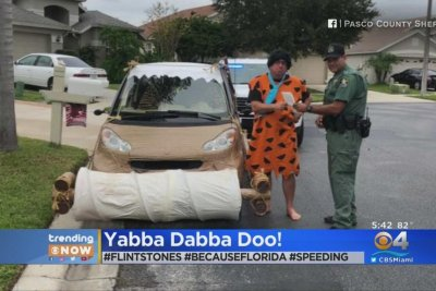 'Fred Flintstone' caught speeding in Florida