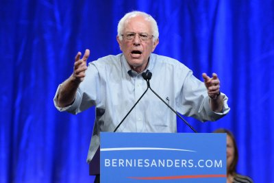 Vermont Sen. Bernie Sanders ahead of Hillary Clinton in Iowa poll