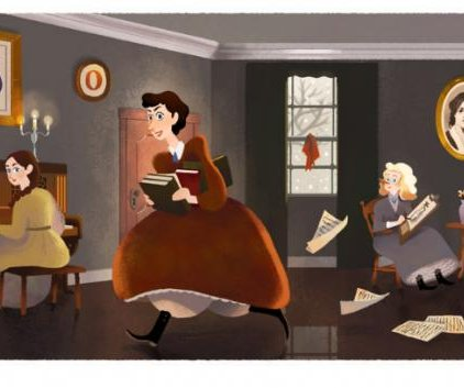 Google celebrates the 184th birthday of Louisa May Alcott with Doodle