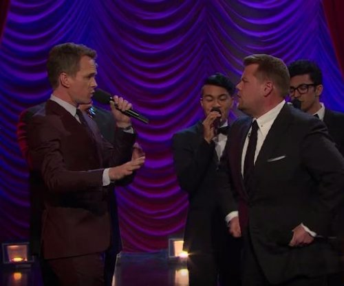 James Corden, Neil Patrick Harris face off in epic Broadway musical riff-off
