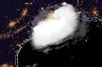 Tropical Depression Imelda moves north over Texas