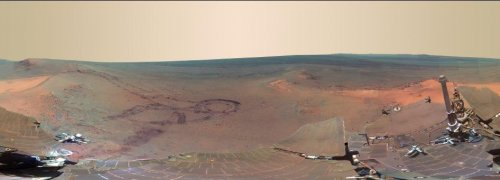 Rover image captures Mars panorama