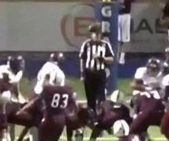 Football bounces off referee's head for successful extra point