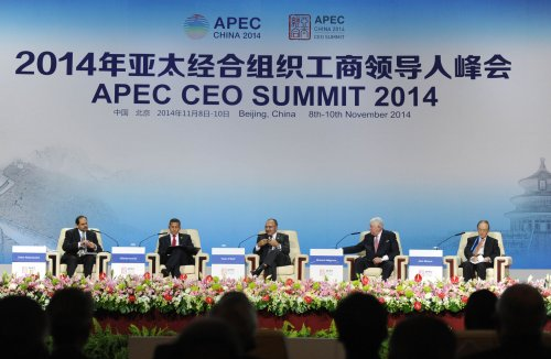 China's Xi, Japan's Abe meet at Beijing APEC summit