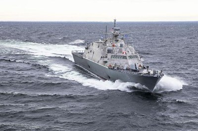USS Billings undergoing repairs in Montreal after striking moored ship