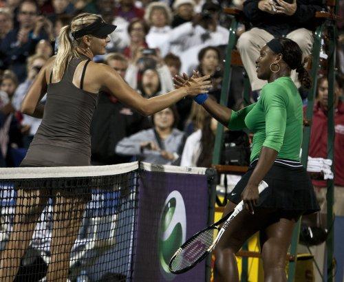 Williams-Sharapova final set at Sony Open