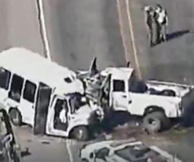 At least 12 dead after bus carrying Texas church choir hits pickup