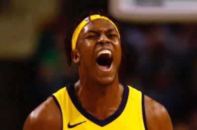 Pacers' Myles Turner throws in monster dunk over Celtics' Gordon Hayward