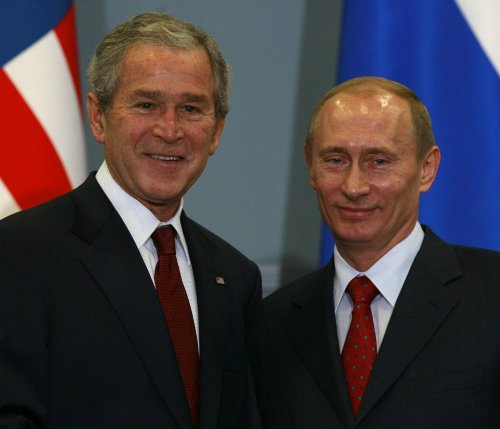 George W. Bush debuts his paintings of Putin, other world leaders