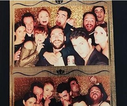 Joe Jonas and 'Game of Thrones' actress Sophie Turner pose in photo booth at wedding