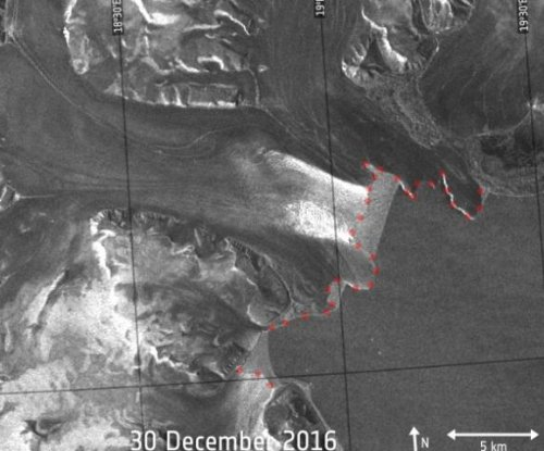 ESA satellites measure migrating Negribreen glacier