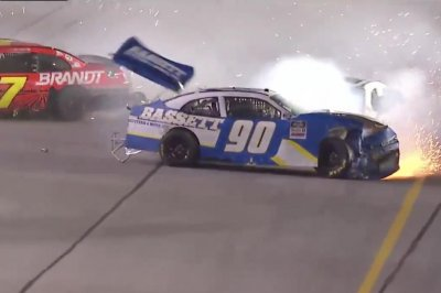 NASCAR's Justin Allgaier, Ronnie Bassett Jr. have fiery final lap wreck