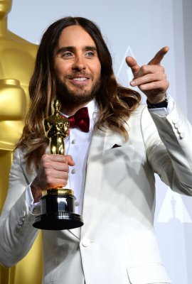 Jared Leto wonders if Jennifer Lawrence's falls are 'a bit of an act'