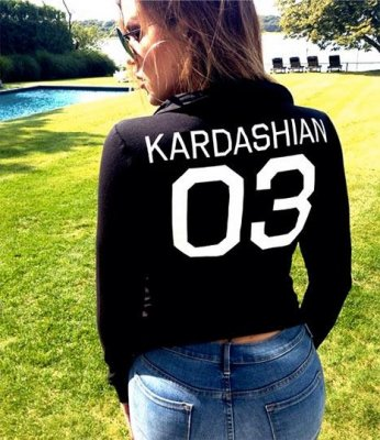 Khloe Kardashian promotes new Kardashian collection on Instagram