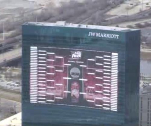 March Madness: Indianapolis hotel erects 165-foot-tall bracket
