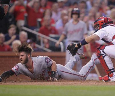 Washington Nationals' Bryce Harper leaves game with injury