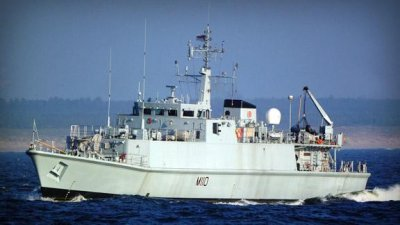 Babcock conducting refit, maintenance of mine-hunter vessel