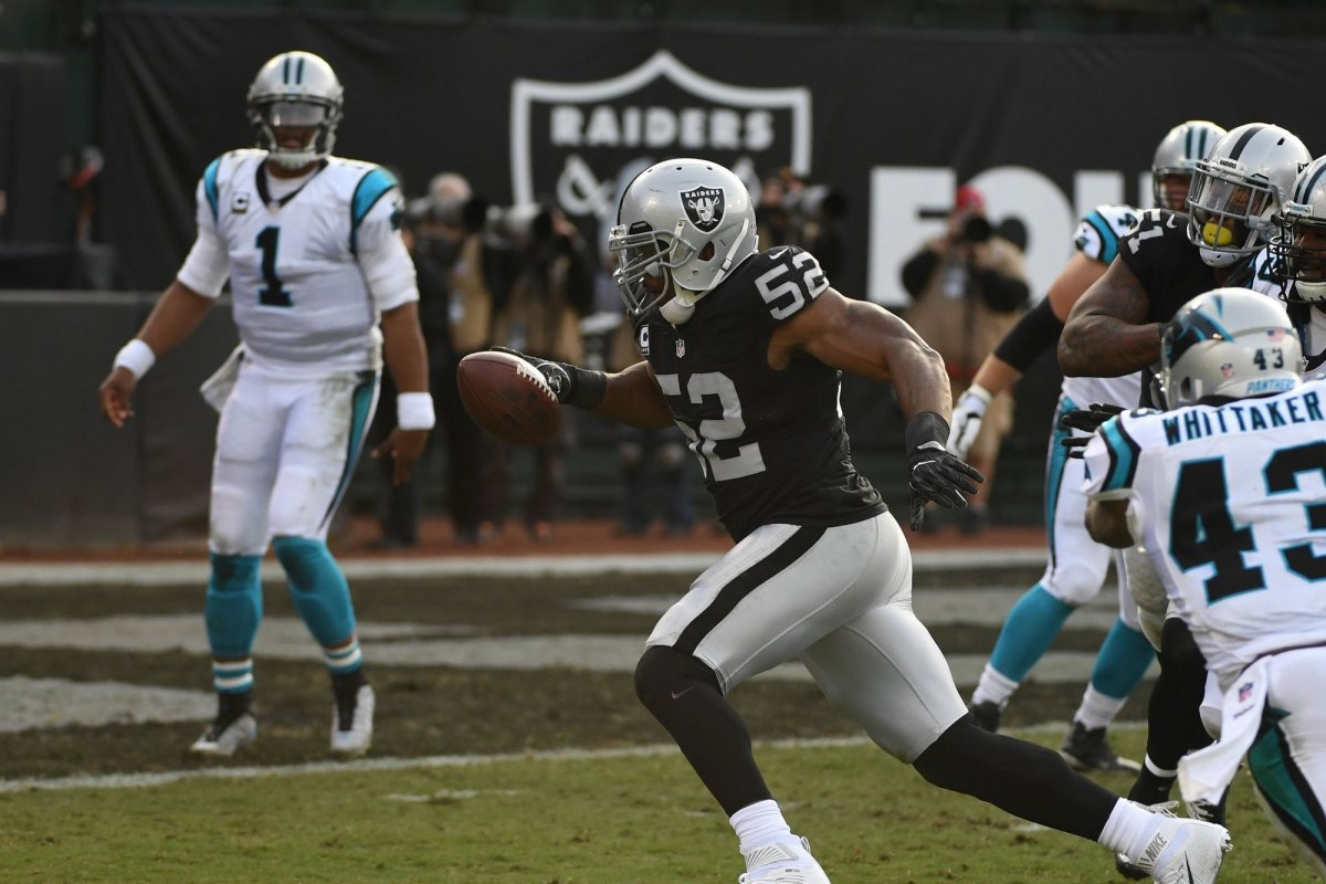 Oakland Raiders Khalil Mack savors first career TR UPI