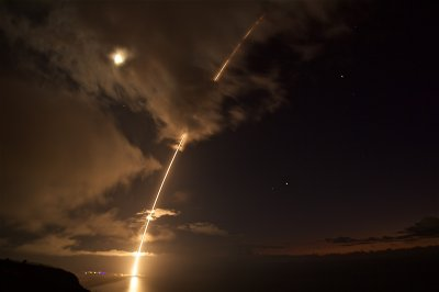 U.S. Navy shoots down test missile off Pacific coast