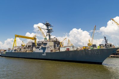 HII launches guided-missile destroyer Frank E. Petersen Jr.