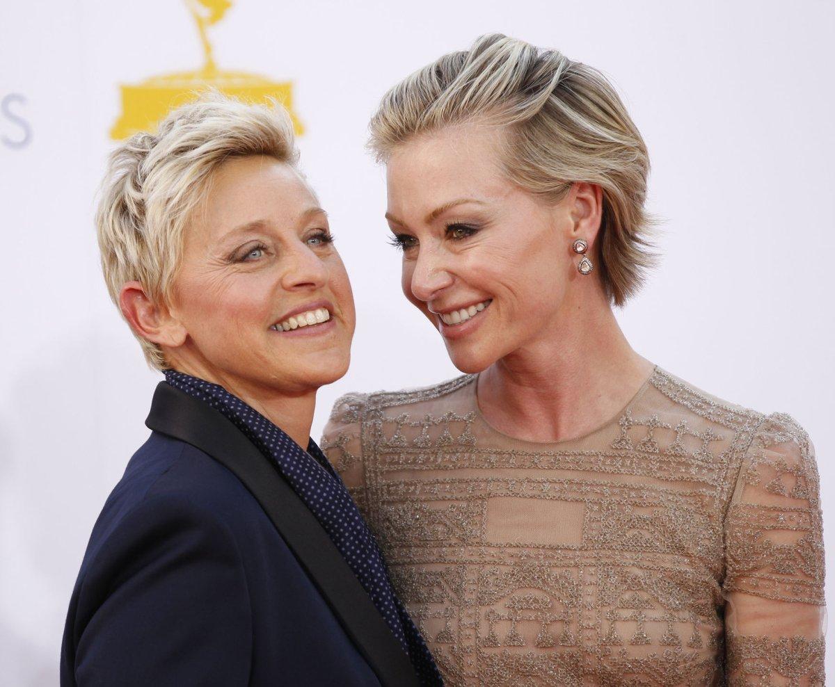 Ellen And Portia Portia De Rossi Ellen Degeneres Address Baby Rumors Upicom