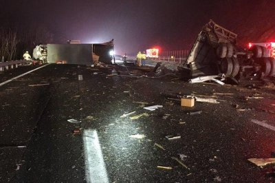 19 hospitalized after charter bus, tractor-trailer collide in Virginia