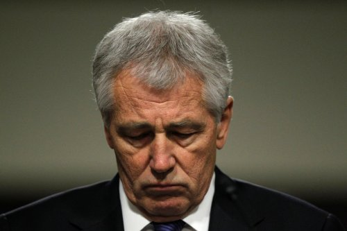 Hagel tries to combat hostile GOP questions on past statements