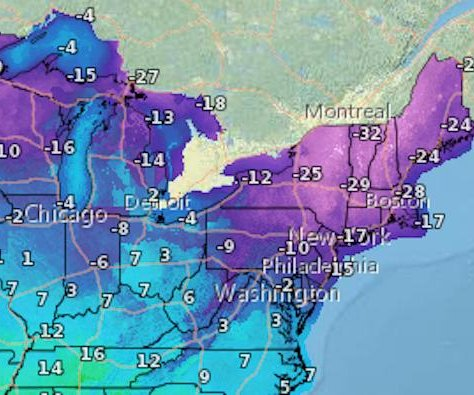 Polar vortex threatens extreme cold in the Northeast