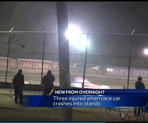 Three injured after race car at Volusia Speedway flips into crowd