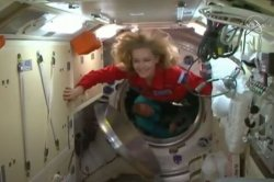 Russian actress, director enter space station to film movie