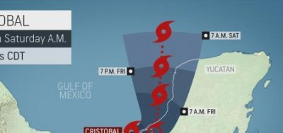 Tropical Storm Cristobal makes landfall in Mexico