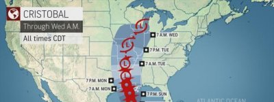 U.S. Gulf on alert for Cristobal as storm crawls across Mexico