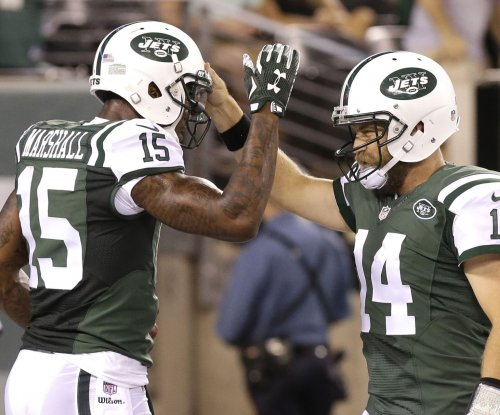 New York Jets' Brandon Marshall slims down from infomercial