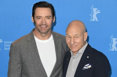 Hugh Jackman has 'Logan' reunion with Patrick Stewart